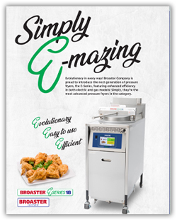 E-Series Pressure Fryer Brochure