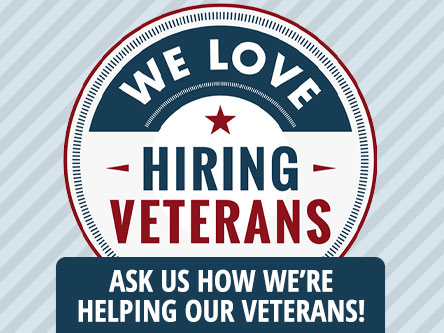 We love hiring veterans